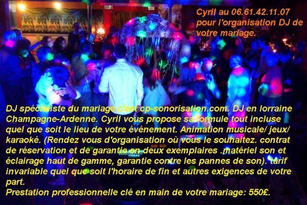 organisation mariage dj